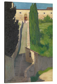 Quadro em alumínio  The Steps of the Convent of San Marco, Perugia, 1913 - Felix Edouard Vallotton