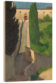 Quadro de madeira  The Steps of the Convent of San Marco, Perugia, 1913 - Felix Edouard Vallotton