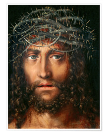 Póster Premium Christ with Crown of Thorns