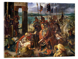Quadro em acrílico  The conquest of Constantinople by the crusaders - Eugene Delacroix