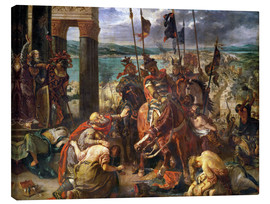Quadro em tela  The conquest of Constantinople by the crusaders - Eugene Delacroix