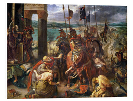 Quadro em PVC  The conquest of Constantinople by the crusaders - Eugene Delacroix