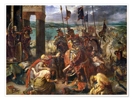 Póster Premium  The conquest of Constantinople by the crusaders - Eugene Delacroix