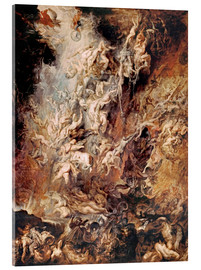 Quadro em acrílico  The descent into hell of the damned - Peter Paul Rubens