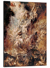 Quadro em alumínio  The descent into hell of the damned - Peter Paul Rubens