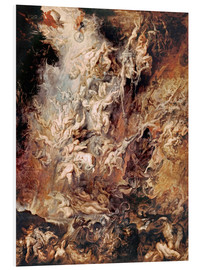 Quadro em PVC  The descent into hell of the damned - Peter Paul Rubens