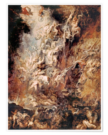 Póster Premium  The descent into hell of the damned - Peter Paul Rubens
