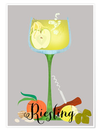 Póster Premium Riesling