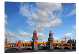 Quadro em acrílico  Upper tree bridge in Berlin by metro and TV Tower - typical Berlin - Frank Herrmann