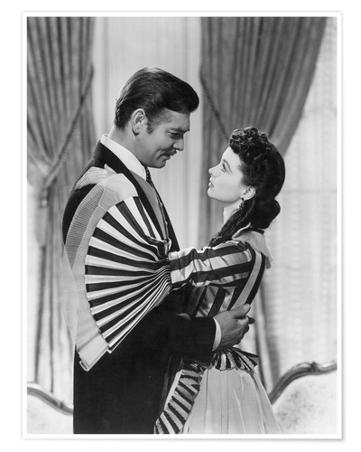 Póster Premium Gone With The Wind, 1939