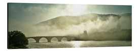 Quadro em alumínio  Heidelberg in fog with old bridge - Jan Christopher Becke