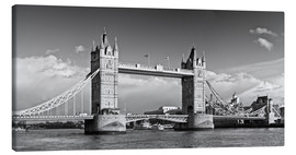 Quadro em tela  Tower Bridge black and white - Melanie Viola