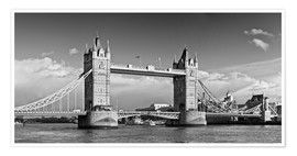 Póster Premium  Tower Bridge black and white - Melanie Viola