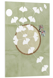 Quadro em PVC  GINGKO TREE BY 5 CLOCK EARLY - Sabrina Tibourtine