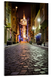 Quadro em acrílico  The famous Galata-Tower at night (Istanbul/Turkey) - gn fotografie