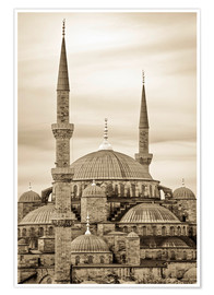 Póster Premium  the blue mosque in sepia (Istanbul - Turkey) - gn fotografie
