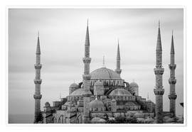 Póster Premium  the blue mosque in Istanbul / Turkey - gn fotografie