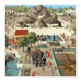 Póster Premium  At the Zoo - Ronald Lampitt