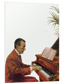 Quadro em PVC  Rachmaninoff playing the piano - Andrew Howat