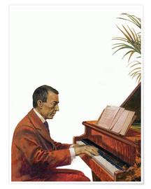 Póster Premium  Rachmaninoff playing the piano - Andrew Howat