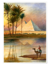 Póster Premium  The Great Pyramid of Giizeh - English School