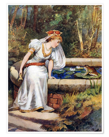 Póster Premium  The Frog Prince - William Henry Margetson