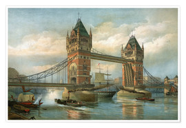 Póster Premium  Tower Bridge, London - English School