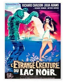Póster Premium  CREATURE FROM THE BLACK LAGOON, on left: the Creature, played by Ben Chapman and Ricou Browning, on