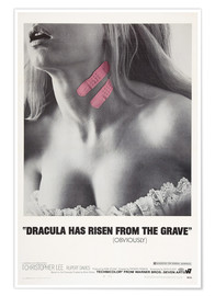 Póster Premium  Dracula Has Risen from the Grave