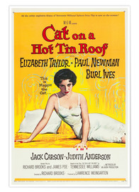 Póster Premium Cat on a Hot Tin Roof