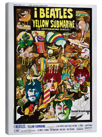 Quadro em tela  The Beatles, Yellow Submarine (italiano)