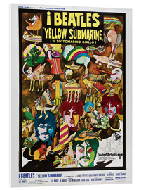 Quadro em PVC  The Beatles, Yellow Submarine (italiano)