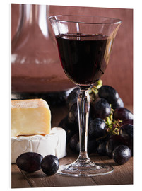Quadro em PVC  Cheese platter with wine - Edith Albuschat