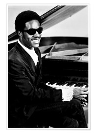 Póster Premium  Stevie Wonder at the piano