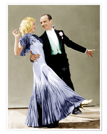 Póster Premium  THE GAY DIVORCEE, Ginger Rogers, Fred Astaire