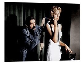 Quadro em acrílico  Dial M for Murder, from left: Anthony Dawson, Grace Kelly in 1954