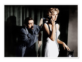 Póster Premium  Dial M for Murder, from left: Anthony Dawson, Grace Kelly in 1954