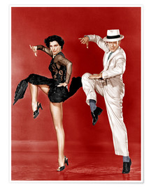 Póster Premium  THE BAND WAGON, from left: Cyd Charisse, Fred Astaire, 1953