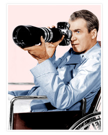 Póster Premium  REAR WINDOW, James Stewart, 1954
