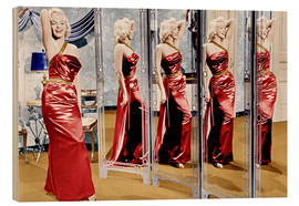 Quadro de madeira  Marilyn Monroe in front of mirrors