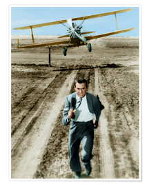 Póster Premium  Cary Grant in North by Northwest
