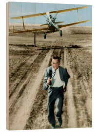 Quadro de madeira  Cary Grant in North by Northwest