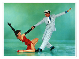 Póster Premium  THE BAND WAGON, Cyd Charisse, Fred Astaire, 1953