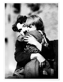 Póster Premium  Charlie Chaplin and Jackie Coogan
