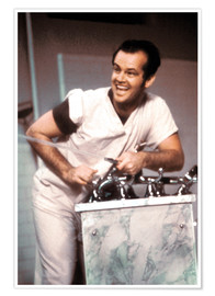 Póster Premium Jack Nicholson in One Flew Over the Cuckoo's Nest