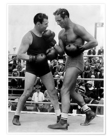 Póster Premium  Jack Dempsey and Max Baer