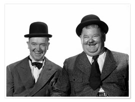Póster Premium  Stan Laurel and Oliver Hardy