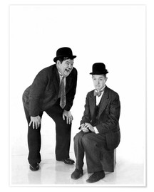 Póster Premium  Laurel and Hardy
