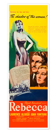 Póster Premium  REBECCA, from left: Laurence Olivier, Joan Fontaine, 1940.