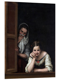 Quadro em PVC  Women from Galicia at the window - Bartolome Esteban Murillo